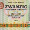 DDR-Banknote 20 Mark Goethe